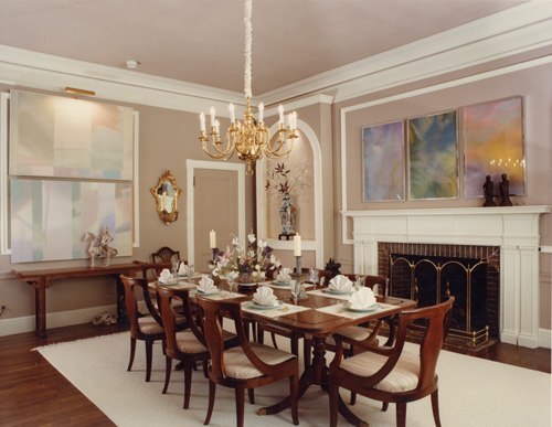 Interior design of john maciejowski for New england dining room ideas